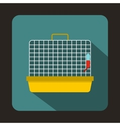 Cage for birds icon flat style vector