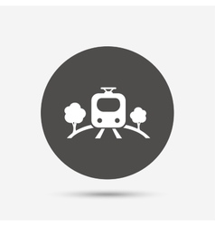 Overground sign icon metro train symbol vector