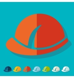 Flat design helmet vector