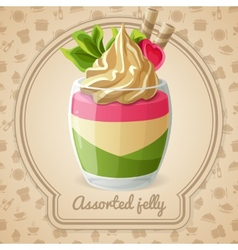 Assorted jelly badge vector image vector image
