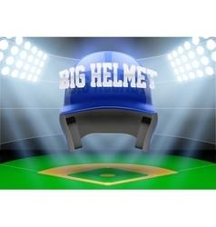 Background night baseball stadium vector