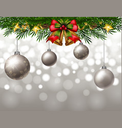 Background template with gray balls vector