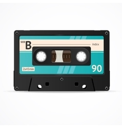 Blue Cassette Tape isolated vector image