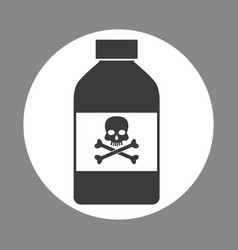 bottle potion danger laboratory chemistry dark vector image