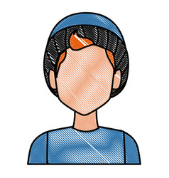 Boy with winter hat face vector