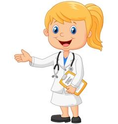 Cartoon a doctor vector image vector image