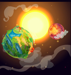 cartoon colorful earth planet template vector image
