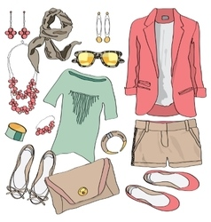 Casual women clothes collection vector image