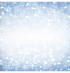Christmas background with glitter snowflakes vector image