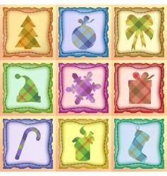 Christmas patchwork vector image