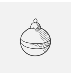 Christmas-tree decoration sketch icon vector image vector image
