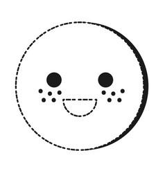cute smiley face icon vector image