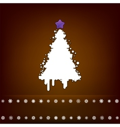 Design with christmas tree eps 8 vector