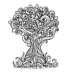 Doodle art tree vector
