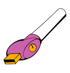 Electronic cigarette charger icon cartoon vector