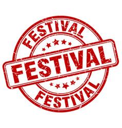 Festival stamp vector