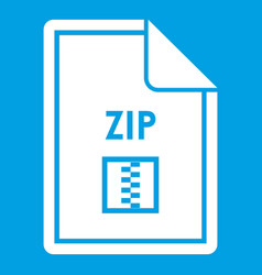 File zip icon white vector