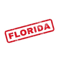 Florida text rubber stamp vector