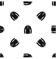 Hoody pattern seamless black vector