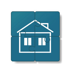 house is built of puzzles vector image