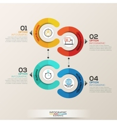 Infographics template circle concept vector image vector image