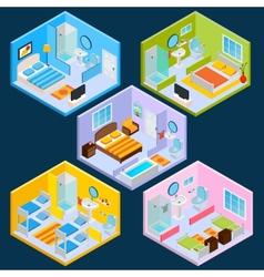 Isometric Hotel Interior vector image vector image