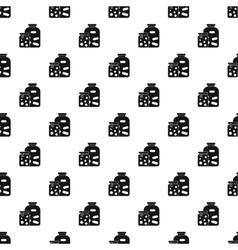 Jam jars pattern simple style vector