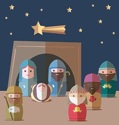 Nativity christian vector image vector image