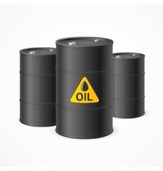 Oil barrel drums vector
