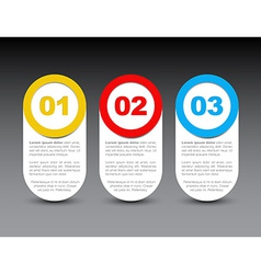 One two three - progress icons vector image