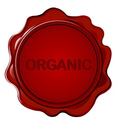 Organic wax seal vector