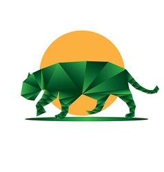 Origami jaguar5 vector image