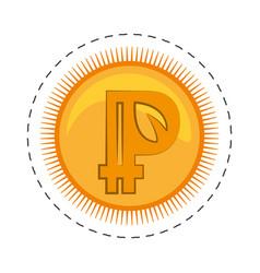 Peercoin money golden commerce vector