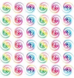 retro seamless circles vector image vector image