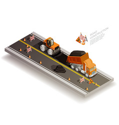 Road works construction composition vector