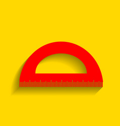 Ruler sign red icon with vector