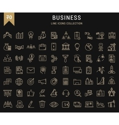 Set Flat Line Icons Business vector image
