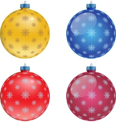 Set of colorful Christmas balls vector image vector image