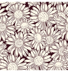 Set of four seamless daisy patterns vector