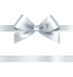 Shiny white satin ribbon vector image vector image