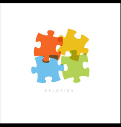 Solution - abstract puzzle concept vector