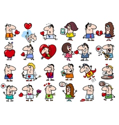 valentines people set vector image vector image