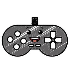 Video game control kawaii character vector