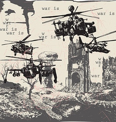 War is - an hand drawn freehand vector