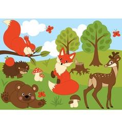 Woodland Animals vector image
