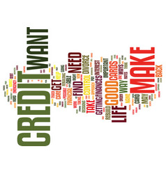 Your credit text background word cloud concept vector