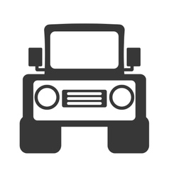 Jeep vehicle transport isolated icon vector