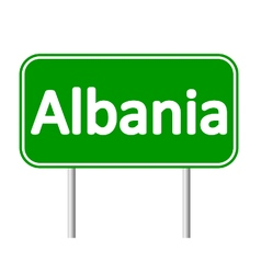 Albania road sign vector
