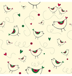 Birdy pattern yellow background vector