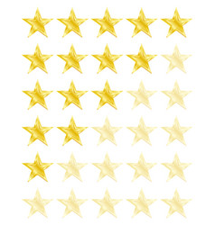 star rating for 0 - 5 stars best rating vector image